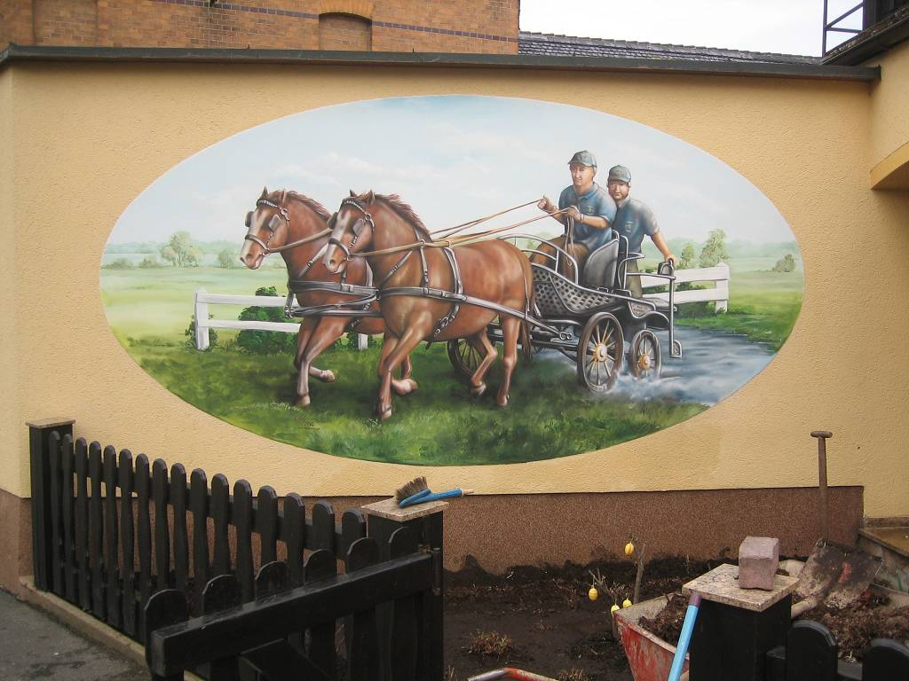 Fassadengestaltung Mit Graffiti Fassadenmalerei 8